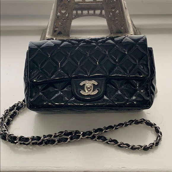 296cf7514d22 CHANEL Bags | Authentic Mini Flap Black Patent Leather | Poshmark